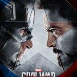 Check out the poster of Marvel's #CaptainAmericaCivilWar. Stars Chris Evans, Robert Downey Jr, Scarlett Johansson. https://t.co/uQ51E8q3gd