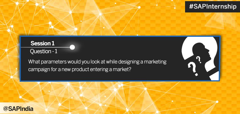 Here is the 1st question. Innovative answers from you may earn you a chance to be shortlisted for #SAPInternship https://t.co/lNJNrmZxhR