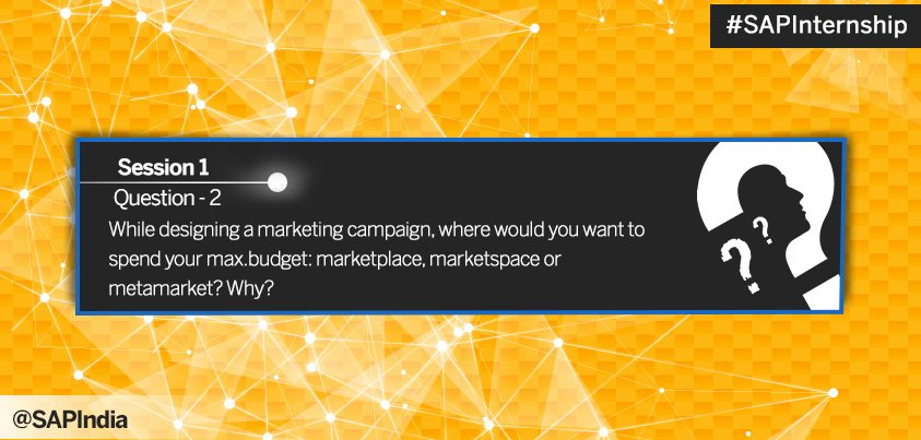 The next question for marketing wizards out there. Answer and get shortlisted for #SAPInternship https://t.co/pBQpu4YWyy