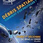 """#ConfIPSA le 1er décembre """"Débris spatiaux, comment sen protéger ?"""" avec @cieletespace https://t.co/P7X02uYhGX https://t.co/WoG6rG6b1c"""