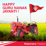RT @TractorMahindra: May we all learn from Nanak's valuable teachings & be blessed with happiness on this occasion of #GuruNanakJayanti. ht…