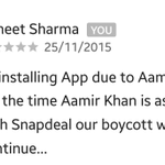 Dont forget to leave your comment before #AppWapsi @snapdeal shud understand what happens when #AamirInsultsIndia https://t.co/MOT2fHRect