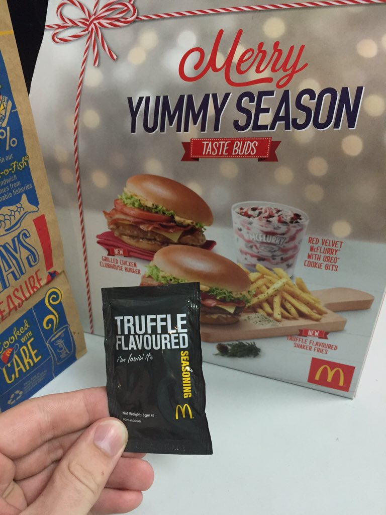 NOT a drill. Truffle fries. McDonald's. https://t.co/IMkji4X0UZ