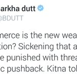 You mean to say Gandhiji, who boycotted British goods & punished the British, was sickening? Kitna tolerance @bdutt! https://t.co/o9O5j0JkCb