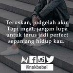 Jangan lupa terus jadi perfect. #nakbebel https://t.co/9tyCKm4XKL