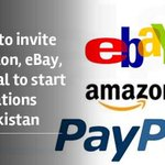 Govt to invite Amazon, eBay, PayPal to start operations in Pakistan https://t.co/v8r4eY69uc https://t.co/V2nVSFVgqs