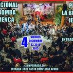 Tradicional Zambomba en @Buleriadejerez Viernes 4 Diciembre 2015 a las 22,30 h. https://t.co/98c7HXYus6
