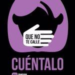 Que NO te calle! CUÉNTALO! #BastaYa #NoalaViolenciadeGénero https://t.co/9nMfOIAEjO