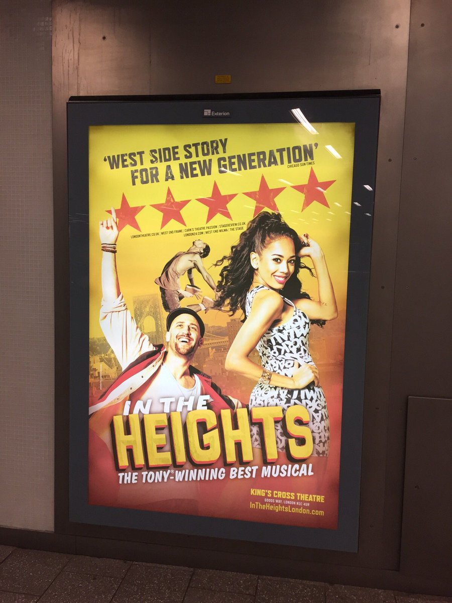 Yes to the NEW poster of @InTheHeightsLDN   Love birds Usnavi & Vanessa and GP @sambmackay and @JadeEwen look FRESH! https://t.co/l8OZfdf2cd