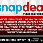 .@snapdeal says it has nothing to do with Aamir Khans comments on intolerance https://t.co/jDYJ88hqwV