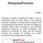 .@snapdeal as @aamir_khan remains ur amby,u shudnt hv prblm w ppl boycotting in personal capacity #BootOutSnapdeal https://t.co/2f1XQKtm3m