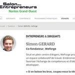 Tiens, demain, il y a un certain @ElpinguinSimon qui sera speaker au @SDEntrepreneurs de #Nantes #SalonEntrepreneurs https://t.co/dLLUWhGuJR