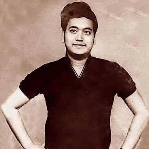 Young Bappi Lahiri. Without gold.