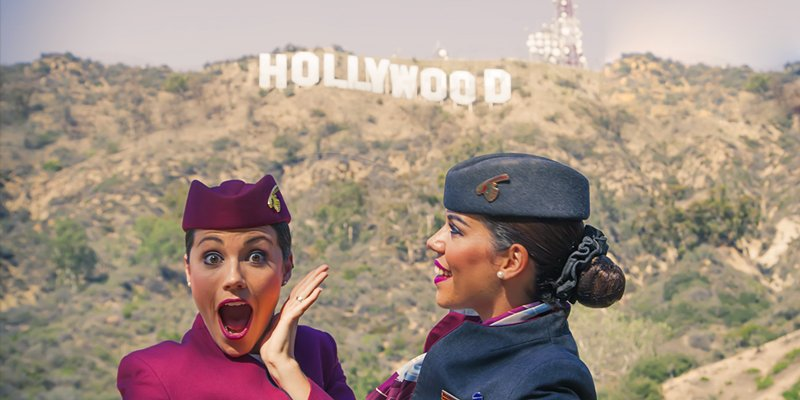 With less than a month until we fly to LA, watch our Cabin Crew touring Hollywood!