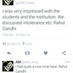 When @OfficeOfRG will discuss development Inspite of Intolerance? Today Youth power showed the way. #RahulStumped https://t.co/FA9XQXRiPb