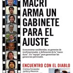 #TemasDelDía Macri arma un gabinete para el ajuste, con economistas neoliberales | CFK y Macri se reunieron a solas. https://t.co/tAgbZvohhE