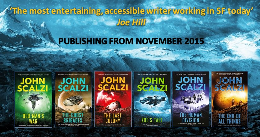 If you haven't read @scalzi's fantastic OLD MAN'S WAR series, now's the time! Check out the stunning new covers. https://t.co/C6c8lLDzDb
