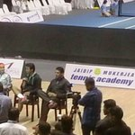RT @t2telegraph: .@MirzaSania, @Leander & @Maheshbhupathi in conversation... We are here... are you here yet? #TennisMasters https://t.co/N…