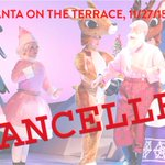 Due to the threat of inclement weather, Santa on the Terrace has been cancelled. Please spread the word! #ATX https://t.co/YXeXmU3UXE