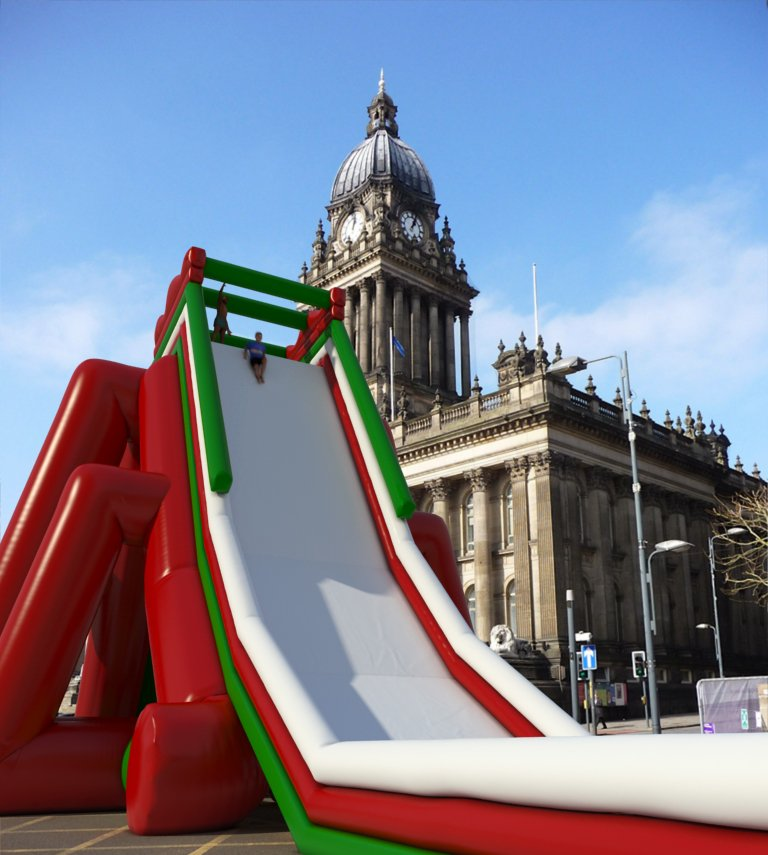 EUROPE'S LARGEST INFLATABLE SLIDE COMES TO LEEDS https://t.co/HftDW5bkhk https://t.co/JXBFj9G6GE