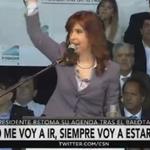 #AHORA: @CFKArgentina retoma su agenda tras el balotaje. Seguí su discurso en vivo https://t.co/AbpVlzRer7 https://t.co/ZgW53thHol