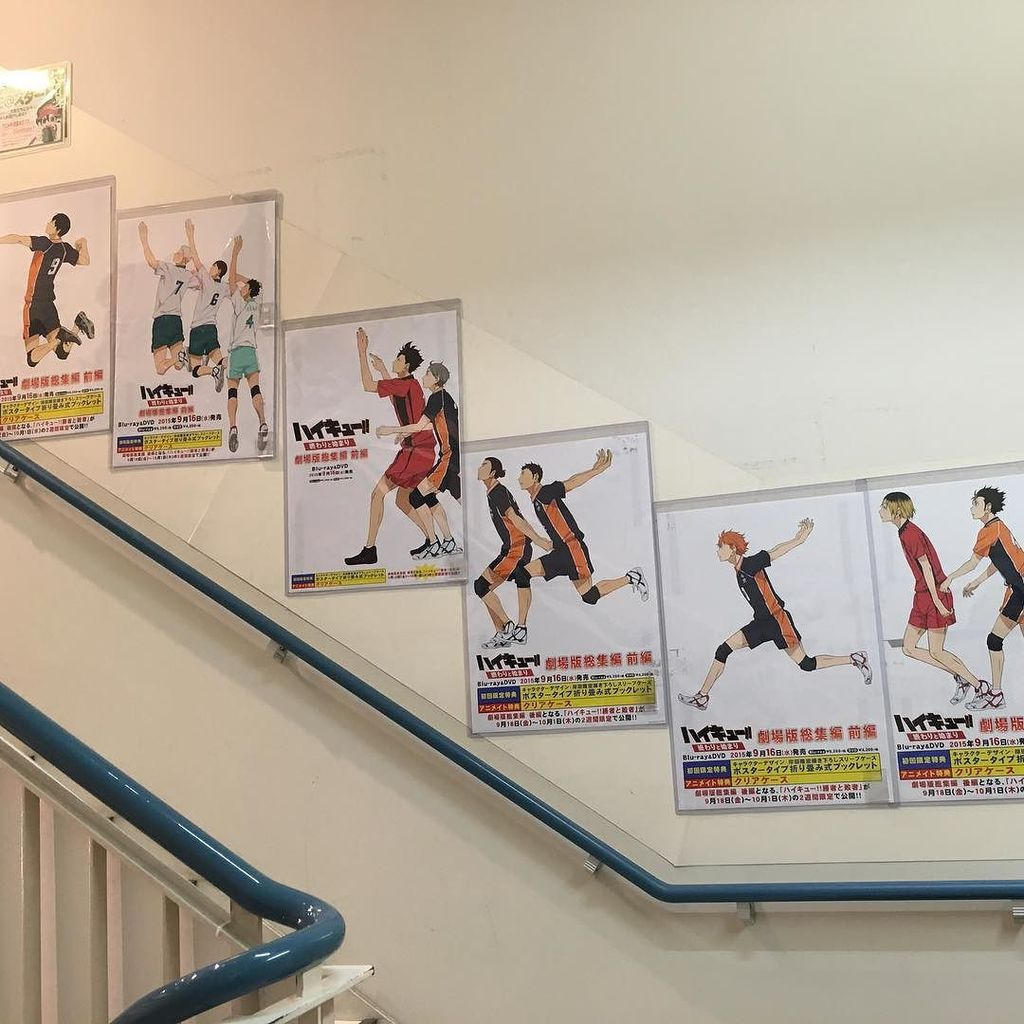 Love the clever Haikyuu posters in the stairwell at Animate Ikebukuro https://t.co/O4TyXyCn0O https://t.co/fCqpV7PZcg