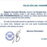 Feliz día del Técnico Paramédico, su labor es fundamental en nuestra institución @LaSerenaOnline @SSaludCoquimbo https://t.co/bwdU3oSxu8