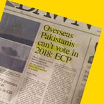 Dear overseas Pakistanis:  We welcome your foreign remittances but would not allow you to vote. Yours, ECP https://t.co/qq1O8ZXbYP