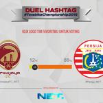 Utk sementara #Persija_NET unggul atas #SriwijayaFC_NET dlm Duel Hashtag. Lihat hasilnya di https://t.co/ZPiFbbzqum https://t.co/LjfDCfHeOk