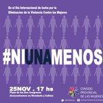En el Día Internacional contra la #ViolenciaDeGénero reafirmamos nuestro compromiso para que no haya #NiUnaMenos https://t.co/FyTIwwGFRN