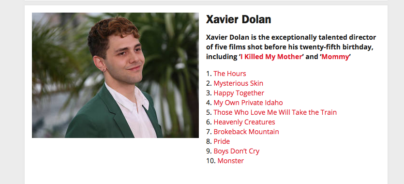 Endless gratitude to the great @XDolan for contributing to our 50 BEST LGBT MOVIES poll: https://t.co/IyKPZPoFsH https://t.co/ScmozNPnt6