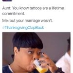 I cant with yall 😂😂😂 #ThanksgivingClapBack https://t.co/4faN9v4c3T
