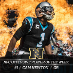Newton named NFC Offensive Player of the Week for 2nd time in 3 weeks, 5th time in career ➡️ https://t.co/JK6uKMdODJ https://t.co/bvwRYlQPWH