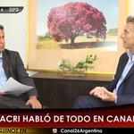 EN ESTE MOMENTO ► La entrevista completa de @maximmontenegro a Mauricio Macri, Presidente Electo de la Nación. https://t.co/7e8Cmcshxe