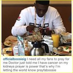 Boosie just posted and deleted on Instagram that he has cancer in his kidneys. Hope thats not true. Prayers Up. ???????? https://t.co/iUf0g2Do50