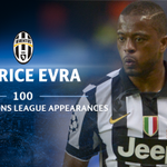 On comes Patrice Evra for his 100th #UCL appearance! Bravo, Patrice! https://t.co/F8L7Yj0ssn