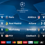 Tonights #UCL fixtures. Which game will have the most goals? * indicates final score https://t.co/8qScssQPjD