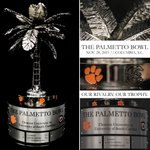 When we take the field this weekend, this is what were playing for. New Trophy, Same Rivalry. #PalmettoBowl https://t.co/6dc0jgH9BR