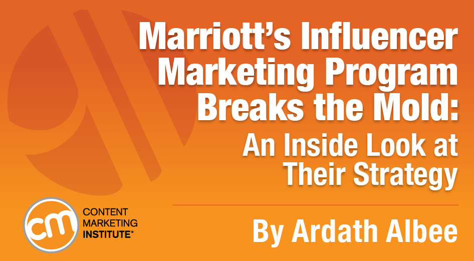 Inside look: @MarriottIntl influencer marketing @ardath421 @CMIContent https://t.co/O06xVOnbDw https://t.co/0WJY5coZLh #cmworld #tourismchat