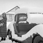 "Winter in #Alberta. ""Heavy snow, Charles Lees car - Jane Lee & daughter"" (ca.1937) CL82 #yeg #yyc #ABCulture https://t.co/6Es9SC5r3A"