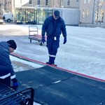 A crew is assembling the the rink in front of @cityofguelph hall. They hope to flood next week if temps stay cool. https://t.co/1qa0VFwZZj