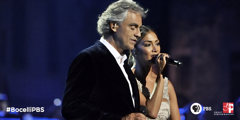 RT @GPerfPBS: Watch @AndreaBocelli & @NicoleScherzy perform