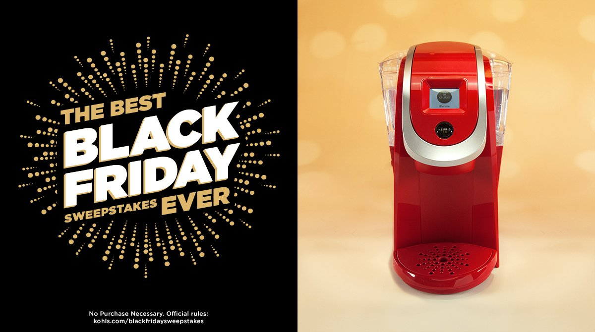 Everyone loves a Keurig! RT for your chance to win this one. #KohlsSweepstakes #BlackFriday https://t.co/5RTe10gQXK