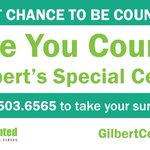 Last chance to be counted in the #GilbertCensus! Call 480-503-6565 to take the survey today: https://t.co/OVGZJjKimR https://t.co/9pMWdTNswU