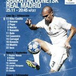 Heres our starting XI to face Shakhtar Donetsk. ???? #RMUCL #HalaMadrid https://t.co/OHUOGIl60l