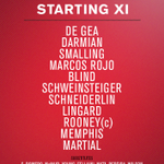 Utd XI: De Gea; Darmian, Smalling, Rojo, Blind; Schweinsteiger, Schneiderlin; Lingard, Rooney, Memphis; Martial. https://t.co/S3peBXxwcC
