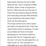 "UNC fan sent me this email response from Dan Dakich. Be fun to see him call MJ ""soft ass"" to his face. https://t.co/G3ljMJhiVx"
