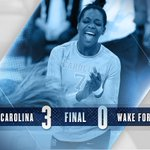 Andrew has the final say as UNC wins the third, 25-22, and sweeps the Deacons!! #GoHeels https://t.co/T1UZrNBa6U