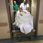 صورة لـ @SuhilaBnLachhab وهي تدخل غرفة العمليات... ادعوا لها بالسلامة ان شاء الله #StaracArabia https://t.co/JreQ79hnay