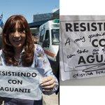 El saludo de @CFKArgentina para los empoderados de Resistiendo con aguante! https://t.co/lNlX4gMQY3